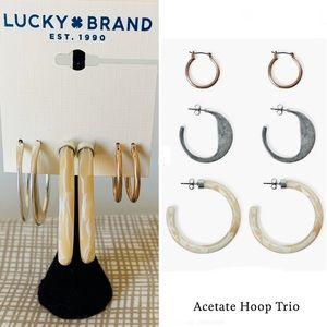 NEW 💋 LUCKY BRAND Trio Hoop Earrings